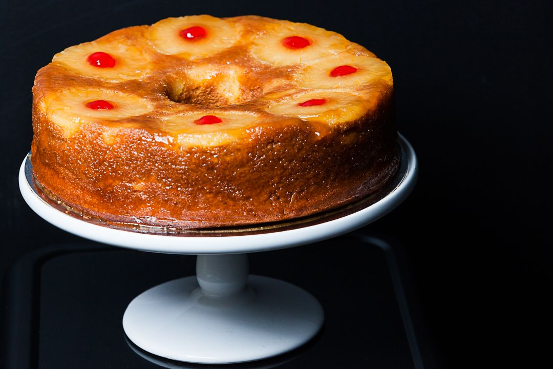 White Peach Upside Down Cake